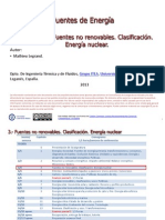 Tema 3 Fuentes No Renovables. Clasificacion. Energia Nuclear