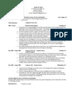 Student Sample Resume 1