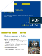 Waste is a Resource in Ecocity