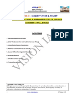 Powers, Fucntions & Responsibilities of Various Constitutional Bodies