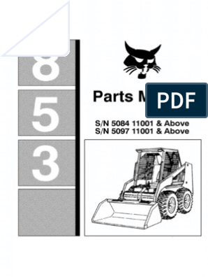 9455470-Bobcat 853 F Parts Manual for Skid Steer Loader Improved