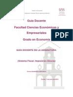 Sistema fiscal. Imposición directa.ECO.2013-14