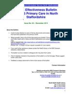 Clinical Effectiveness Buletin 83 December 2013