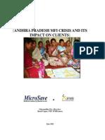 AP MFI Crisis Report MicroSave CMF Ghiyazuddin Gupta