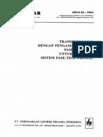 Spln 95 1994 Trafo Dgn Pengaman Sendiri Fase Tunggal Untuk j