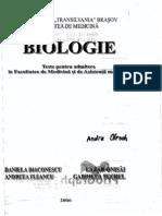 171218705 Teste Admitere Medicina Biologie Brasov 2006