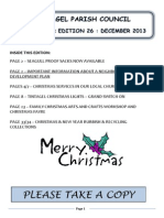 Newsletter 26 December 2013