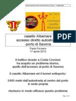 CCA - 2013 04 17 - Paolo Forzano - Accesso Autostrada-porto Savona