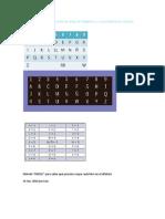 aqui viene una relación entre las letras del alfabeto y su equivalente en número