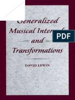 musical form and transformation lewin david