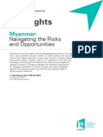 Vol 14 Myanmar Navigating the Risks and Opportunities Jan 2014