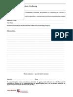 Halliburton UG Scholarship Reference Form 2012-13