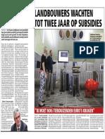 HBVL 29/01/'14 - Landbouwers moeten wachten op subsidies