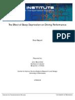 Los Efectos de la falta de sueño en la conducción