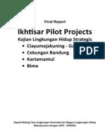 Ikhtisar Pilot Projects Kajian Lingkungan Hidup Strategis (KLHS)- Ciayumajakuning - Gardang, Cekungan Bandung, Kartamantul, Bima