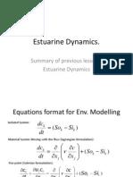 Lecture 10 & 11 - Estuaries and Estuarine Dynamics