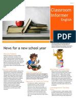 newsletter for education 204
