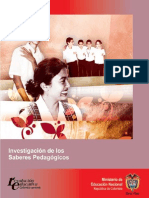 investigacion de los saberes pedagógicos MEN.pdf
