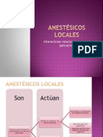 Anestésicos locales issste