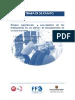 Informe trabajo de campo de riesgos ergonómicos y psicosociales trabajadores en los centros de discapacitados Islas Baleare