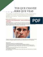 Las Fotos Que Chavez No Quiere Que Veas