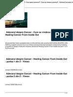 Adevarul Despre Cancer