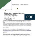 Crear Tu Propio eBook Con LibreOffice en Formato Epub