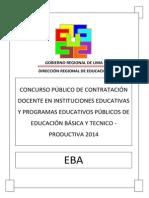 Examen Contrato Docente EBA 2014 DRLP