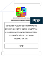 Examen Contrato Docente EBE 2014 DRLP