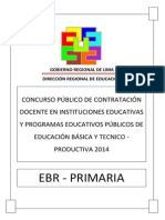 Examen Contrato Docente Primaria 2014 DRLP