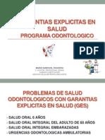 Garantias Explicitas en Salud-programa Odontologico