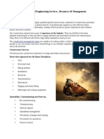Construction Service, Resorce & Management