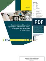 Raport FRA privind antisemitismul -2013