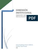 EVIDENCIA 13 dimensión institucional