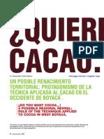 ¿Quiere cacao…? Un posible renacimiento territorial