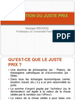 Georges Decocq - La question du juste prix
