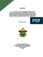 ANALISIS PENGARUH PERTUMBUHAN DANA PIHAK KETIGA (DPK), CAPITAL ADEQUACY RATIO (CAR), RETURN ON ASSET (ROA), DAN TINGKAT SUKU BUNGA SBI TERHADAP PERTUMBUHAN KREDIT PADA BANK UMUM SWASTA NASIONAL DEVISA TAHUN 2008-2012