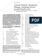 An Improved Network Model for Transmission Expansion Planning Considering Reactive Power and Network Losses