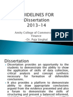 Guidelines for Dissertation