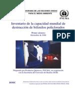 Inventario de la capacidad mundial de  destrucción de bifenilos policlorados