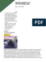 EDA Tools Bridge the System on Programmable Chip Design Gap 3