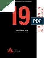 Financial Reporting Standard 19 - Deferred Tax