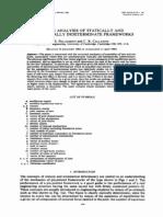 Pellegrino Calladine 1985 Matrix Analysis of Statically and Kinetically Indeterminate Frameworks