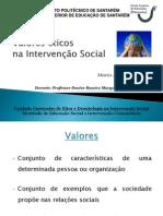 Apresentação - valores eticos intervençao social