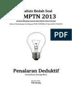 Analisis Bedah Soal SBMPTN 2013 Kemampuan Penalaran Deduktif (Penarikan Kesimpulan)