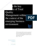 Discuss the Key Elements of Total Quality Management