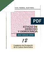José Luis Rodriguez Zepeda-Estado, Derecho y Democracia