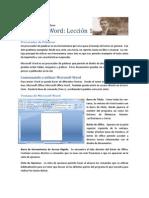Microsoft Word Lección 1