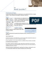 Microsoft Word Lección 7
