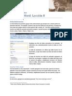 Microsoft Word Lección 8